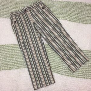 Super stripes and earthy tones loft capris